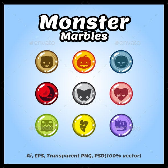 Monster Marbles Vector