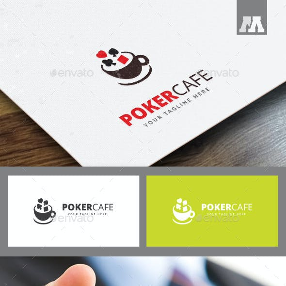 Poker Cafe Logo Template