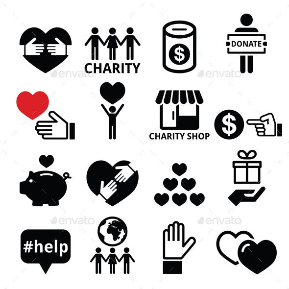 Charity Icons - Miscellaneous Vectors