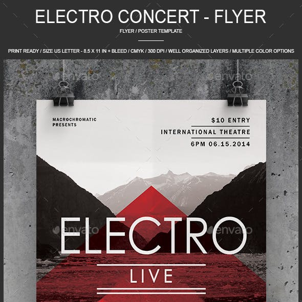 Electro Concert - Flyer / Poster