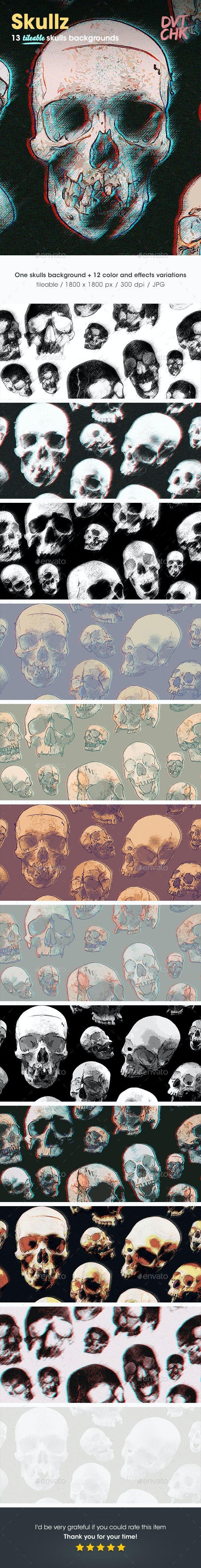 Skullz Backgrounds - Patterns Backgrounds