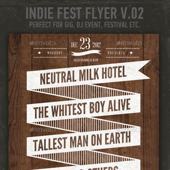 Indie Fest V.02 Flyer / Poster