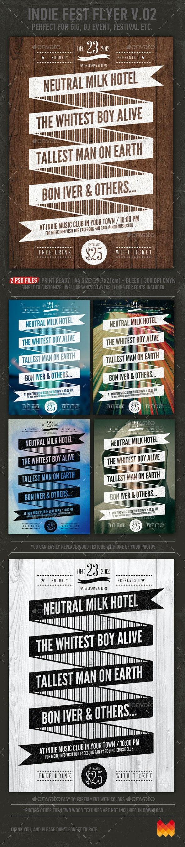Indie Fest V.02 Flyer / Poster - Events Flyers
