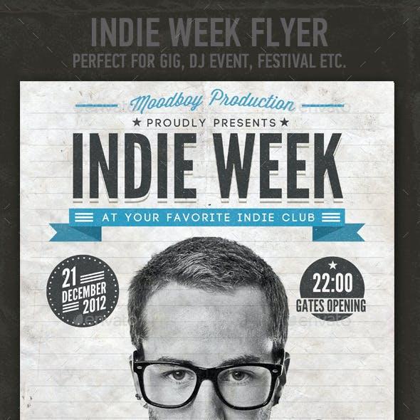 Indie Week Flyer/Poster