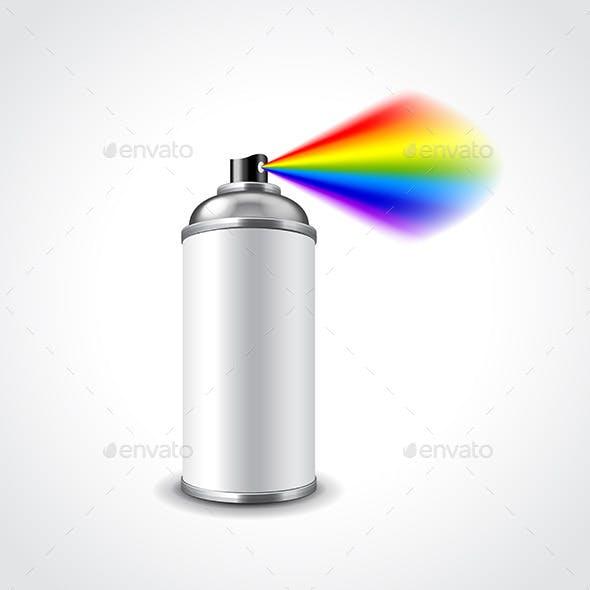 Graffiti Spray Can Illustration