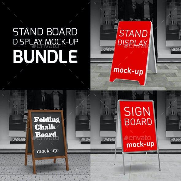 Sign Boards Display Bundle Mock-Up