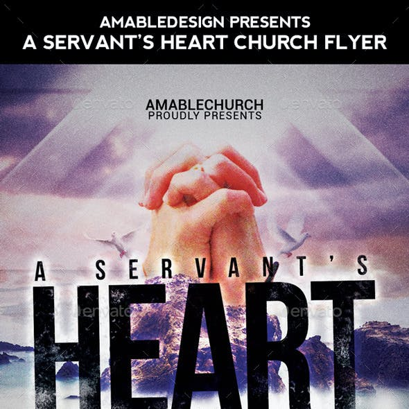 A Servant's Heart Church Flyer