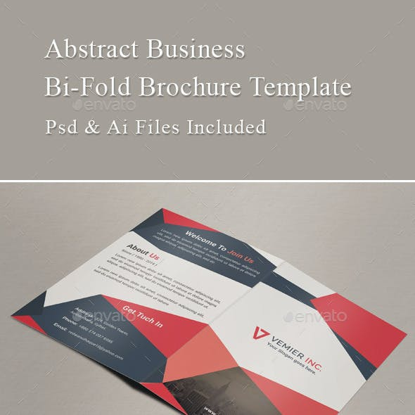 Abstract Business Bi-Fold Brochure