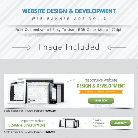 Website Design & Development Banner Ads Vol.3