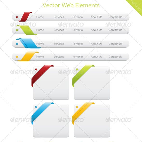 Vector Web Elements