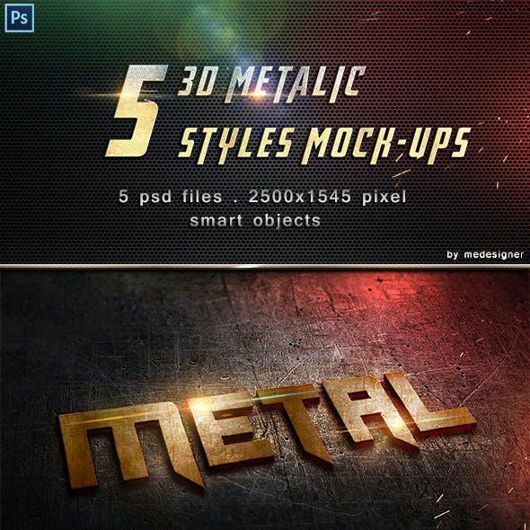 3D Metalic Text Styles