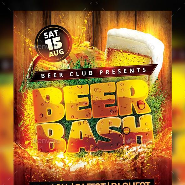 Beer Bash Flyer