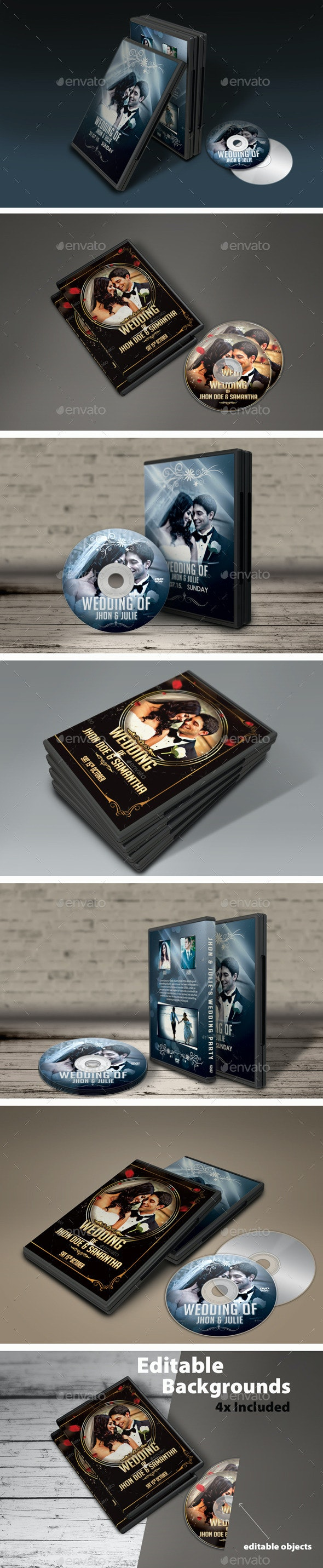 DVD Cover Mock-Ups - Discs Packaging