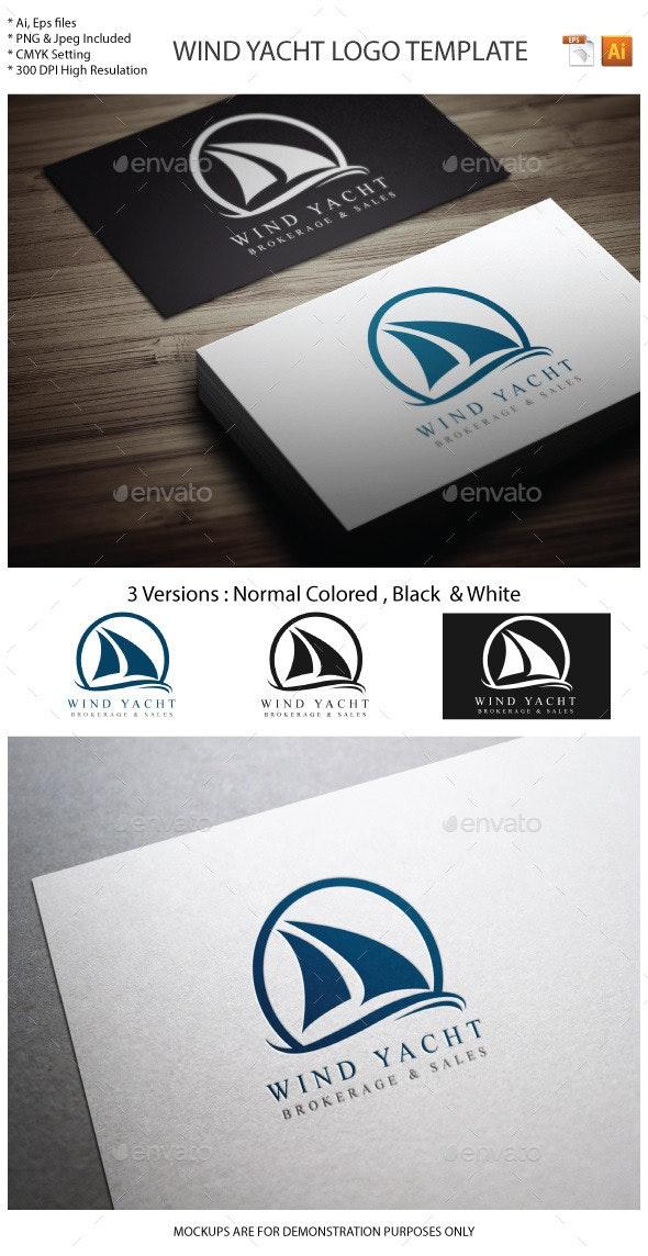 Wind Yacht Logo template - Objects Logo Templates