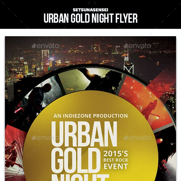 Urban Gold Night Flyer
