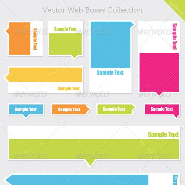 Vector Web Boxes
