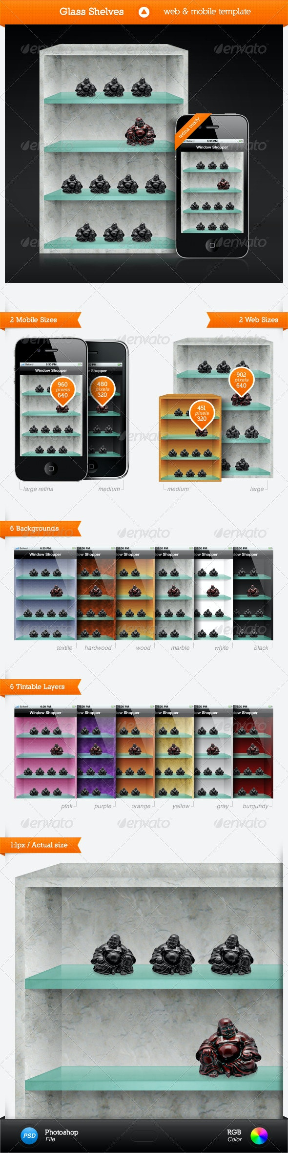 Glass Shelves - Objects Illustrations