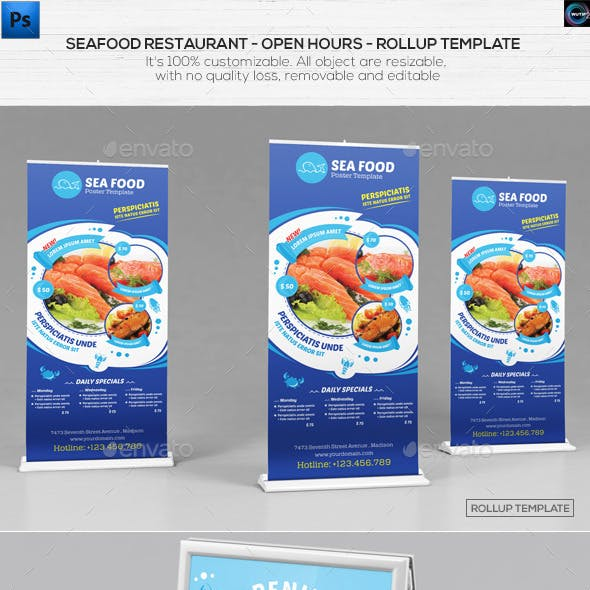 Seafood Restauran - Open hours/ RollUp Template