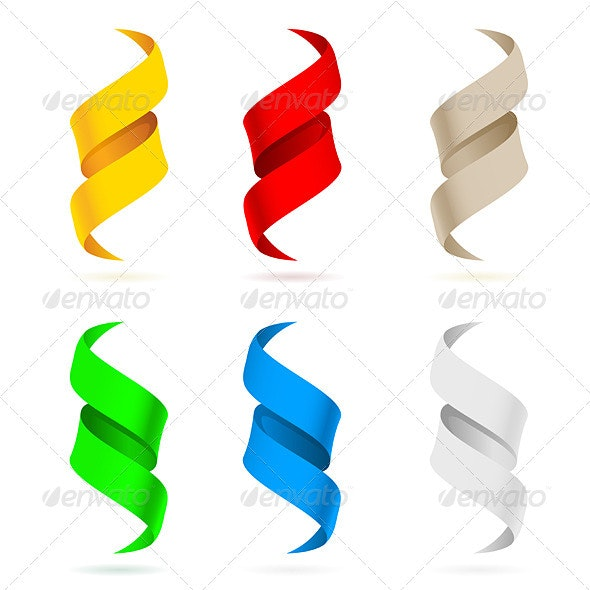 Many beautiful colored ribbons - Miscellaneous Characters