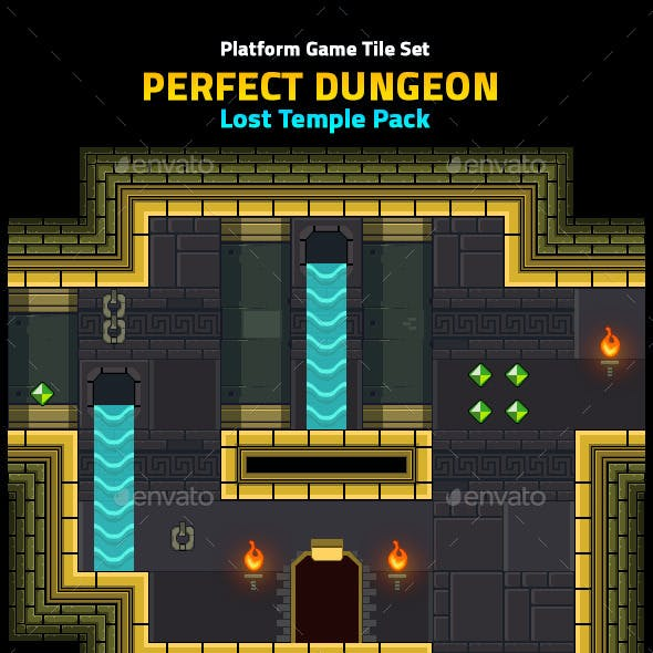 Perfect Dungeon Tile Set Lost Temple Pack