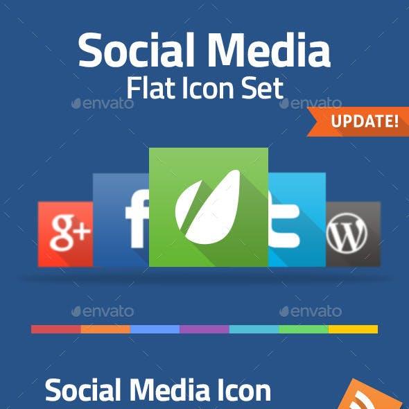 Contact & Social Media Flat Icons