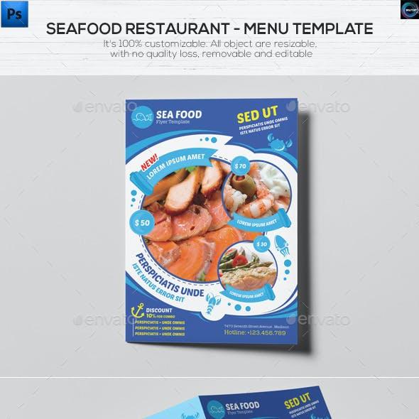 Seafood Restaurant - Menu Template