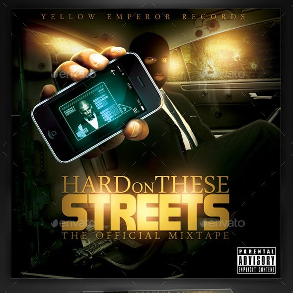 Hard Streets Mixtape / Flyer or CD Template
