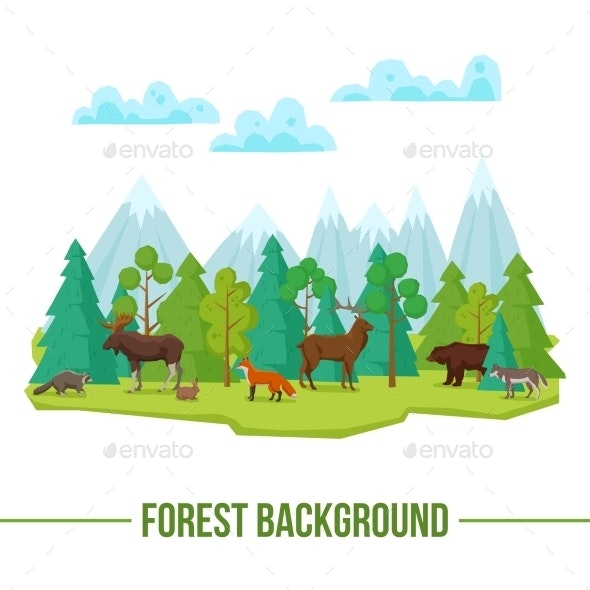 Forest Animals Background - Animals Characters