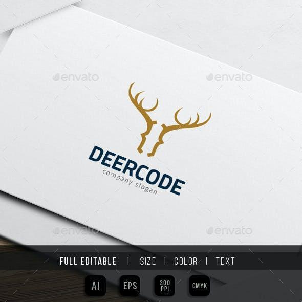 Deer Code - Wild Website Theme Logo