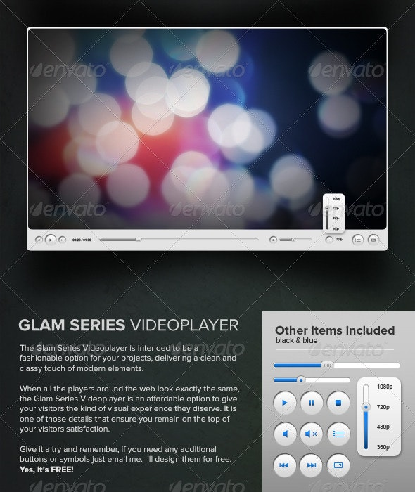 Glam Series Video Player - Miscellaneous Web Elements