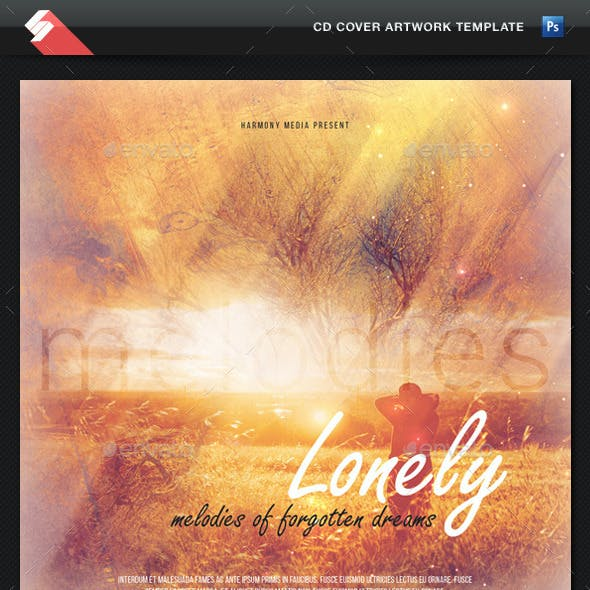 Lonely Melodies - CD Cover Artwork Template