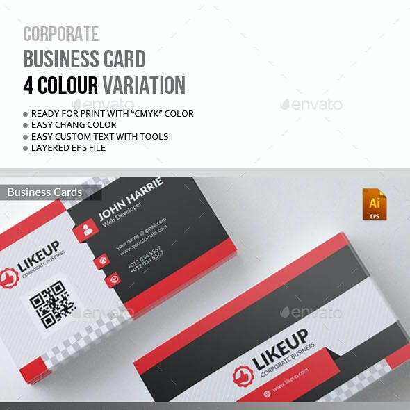 LikeUp Corporate Business Card