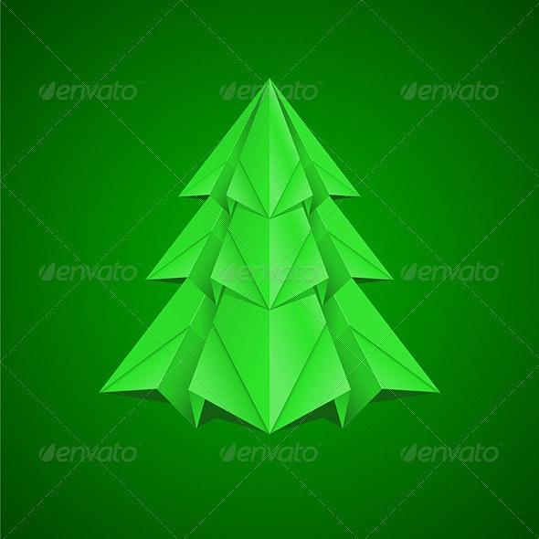 Paper Christmas Tree - Characters Vectors