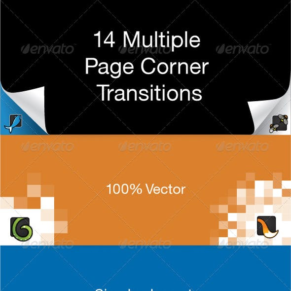 12 Page Corner Transitions