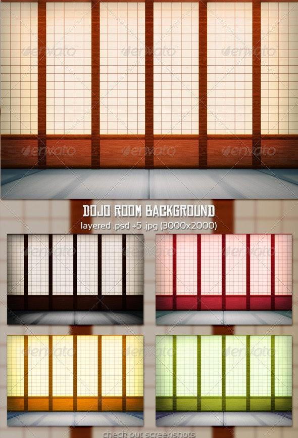 Dojo Room Background - 3D Backgrounds