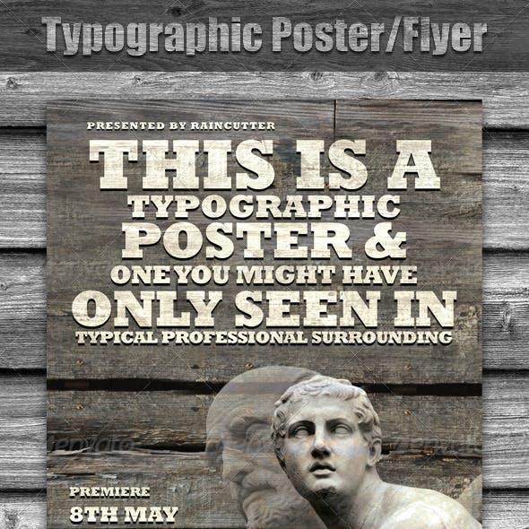 Typographic Poster/Flyer