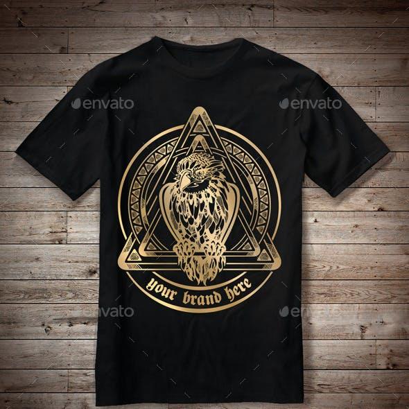 T-Shirt Illustration Eagle Theme