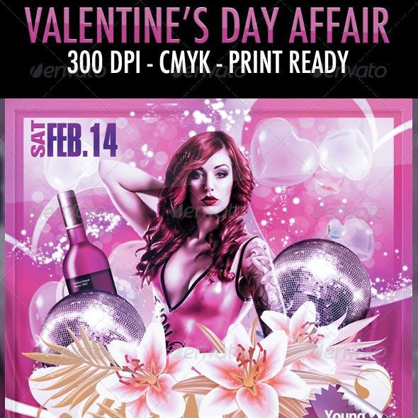 Valentine's Day Affair Flyer Template