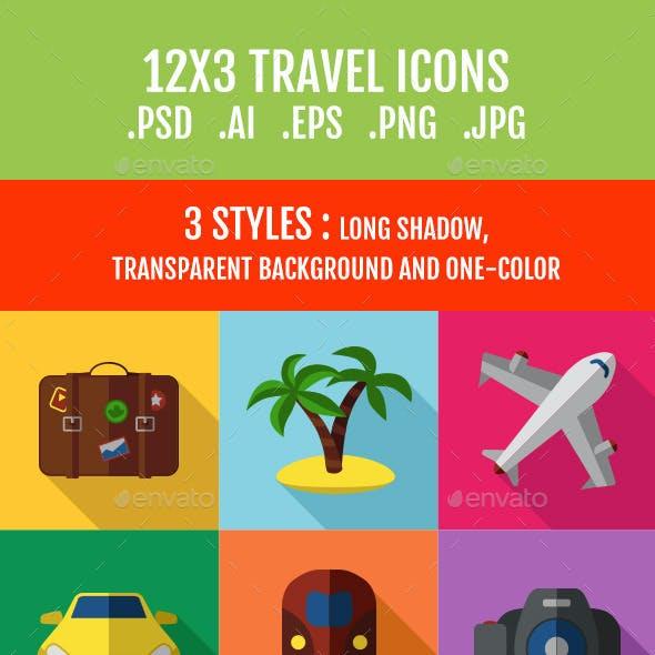 36 Travel Icons