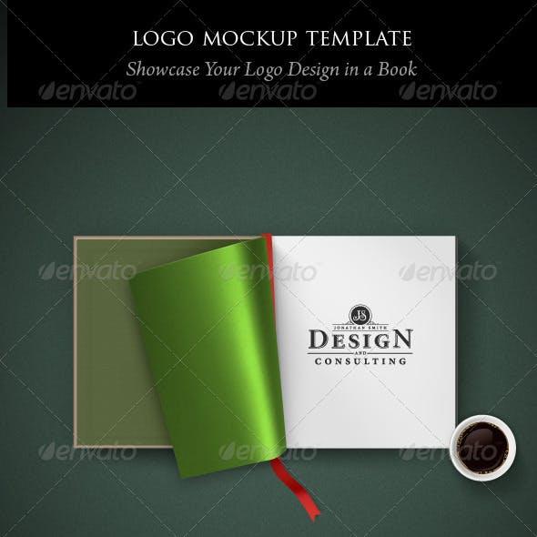 Logo Mockup Template: Open Book