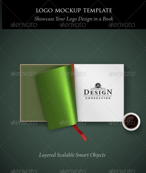 Logo Mockup Template: Open Book - Logo Product Mock-Ups