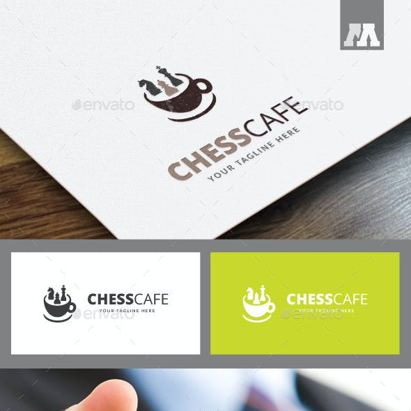 Chess Cafe Logo Template