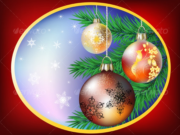 Christmas card - Backgrounds Decorative