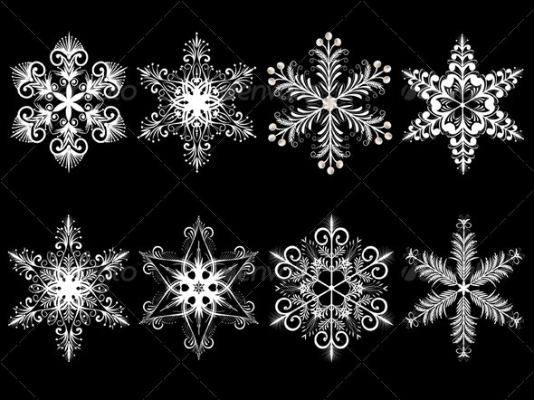 Snowflakes - Objects Vectors