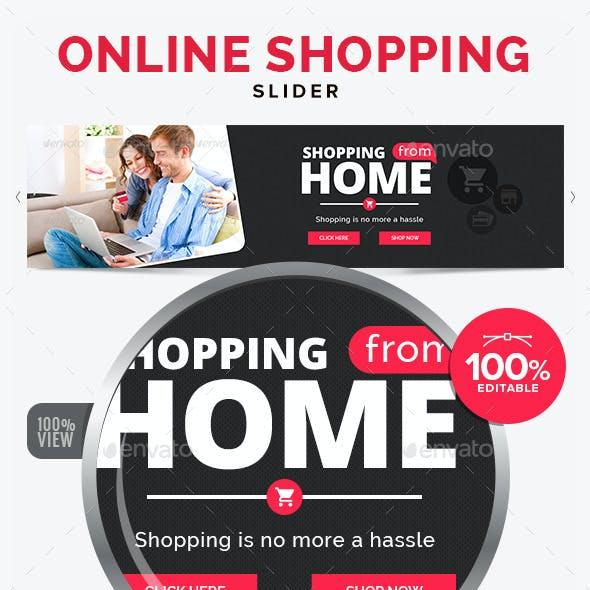 Online Shopping Slider