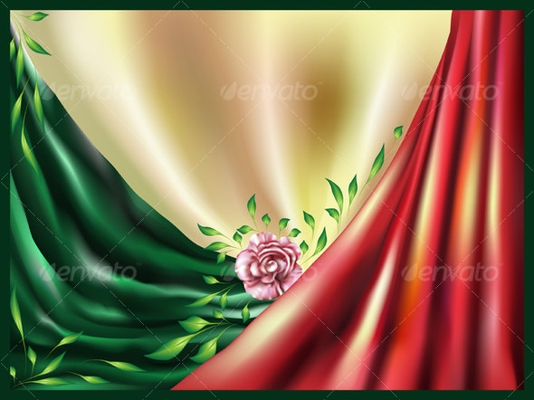 Abstract background with a rose - Abstract Conceptual