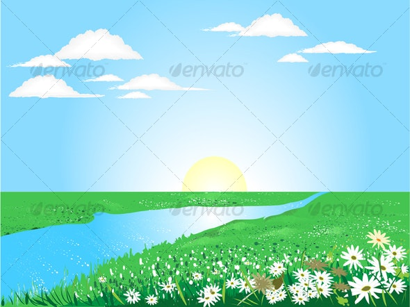 Beautiful sunny day  - Characters Vectors