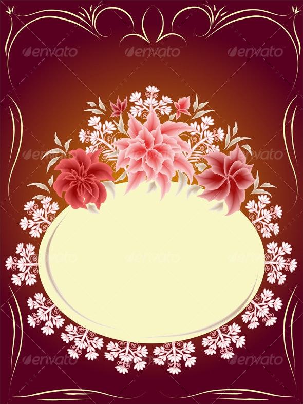 Floral card   - Borders Decorative