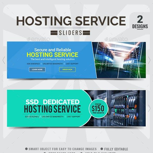 Hosting Sliders - 2 Designs