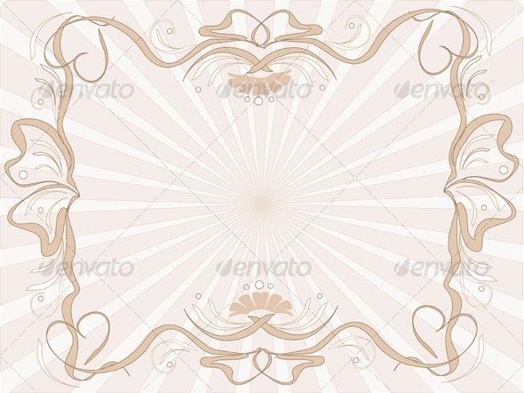 Frame in beige - Borders Decorative
